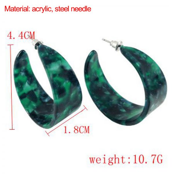 31685 9a033e 600x600 - M&G Vintage Big Red Hoop Earrings for Women Green Black Acrylic Earrings Hoops Fashion Jewelry Resin Jewelry Accessories Gifts