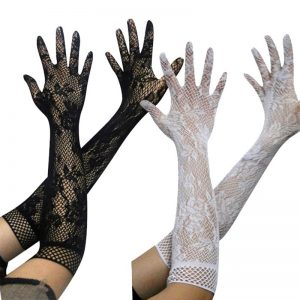 61102 caxsdp 300x300 - 1 Pair Black White Fashion Sexy Women Lace Stretchy Elbow Length Evening Party Gloves Summer Sunscreen Fishnet Long Gloves