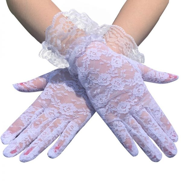 61103 cpcqi4 600x600 - Black White Pink Skin Red Fashion Women Lady Lace Party Sexy Dressy Gloves Summer Full Finger Sunscreen Gloves for Girls Mittens