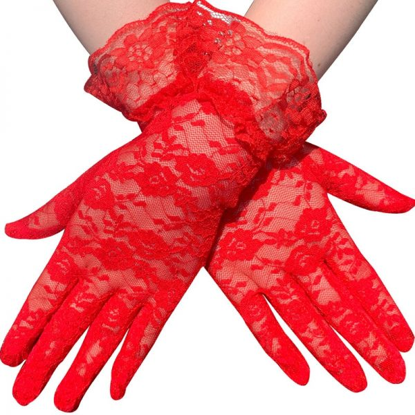 61103 zxf4zx 600x600 - Black White Pink Skin Red Fashion Women Lady Lace Party Sexy Dressy Gloves Summer Full Finger Sunscreen Gloves for Girls Mittens
