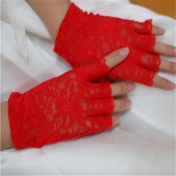 61242 cqj5ab 600x600 - 2020 new women vintage stunning gothic sun protection lace lace gloves sexy UV protection smart gloves fingerless mittens new
