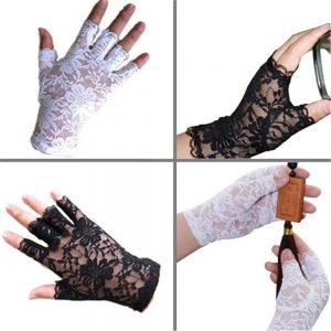 61242 hqwh8w 300x300 - 2020 new women vintage stunning gothic sun protection lace lace gloves sexy UV protection smart gloves fingerless mittens new