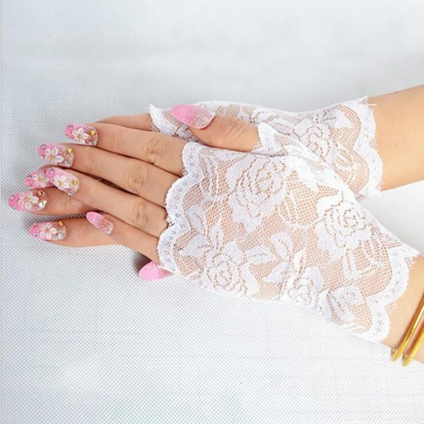 61254 letbue 600x600 - Best Sale Sailor Dance Long Fingerless Womens Sexy Lace Gloves Ladies Half Finger Fishnet Gloves Heated Mesh Mitten Handschoenen