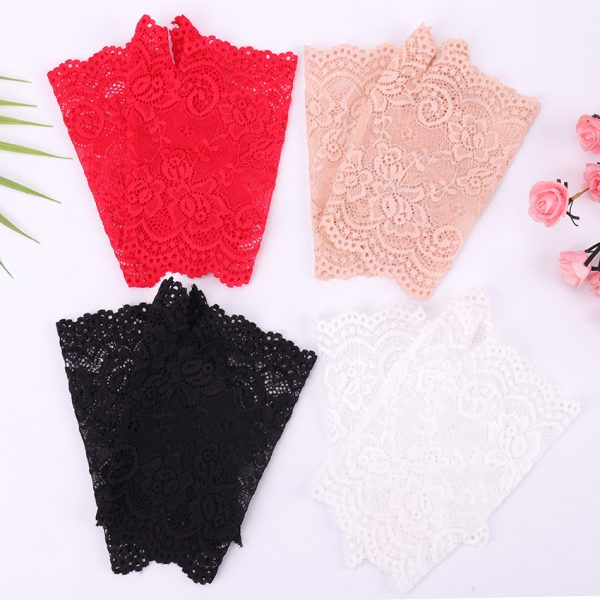 61275 akq0yg 600x600 - Spring And Summer Women'S Sunscreen Short Gloves Fashion Sexy Fingerless Lace Driving Gloves Spring And Summer Lace Glove