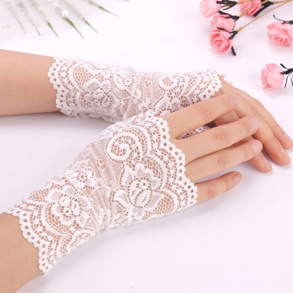 61275 bckiiq 600x600 - Spring And Summer Women'S Sunscreen Short Gloves Fashion Sexy Fingerless Lace Driving Gloves Spring And Summer Lace Glove