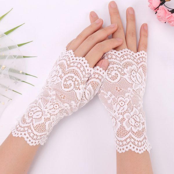 61275 smdkty 600x600 - Spring And Summer Women'S Sunscreen Short Gloves Fashion Sexy Fingerless Lace Driving Gloves Spring And Summer Lace Glove