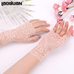 61275 unzlxn 300x300 - Spring And Summer Women'S Sunscreen Short Gloves Fashion Sexy Fingerless Lace Driving Gloves Spring And Summer Lace Glove