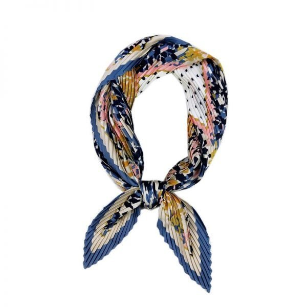 61398 abnbuc 600x600 - Small Silk crinkle scarf Pleated 70cm Square Spring And Autumn  Literary Retro  New Decorative Women Scarf