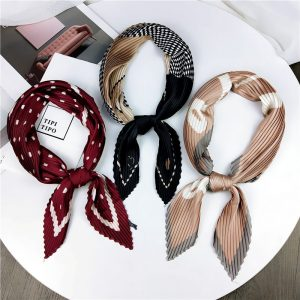 61398 vfpf8r 300x300 - Small Silk crinkle scarf Pleated 70cm Square Spring And Autumn  Literary Retro  New Decorative Women Scarf
