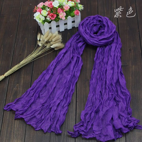 61683 2tntvq 600x600 - Scarves Women 2019 Luxury Brand Scarf Pashmina Head Scarf Ladies Green Scarf Bufanda Hombre Men Solid Color Cotton Scarf Bandana