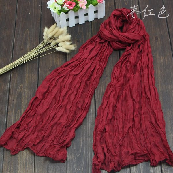 61683 o3ni4d 600x600 - Scarves Women 2019 Luxury Brand Scarf Pashmina Head Scarf Ladies Green Scarf Bufanda Hombre Men Solid Color Cotton Scarf Bandana