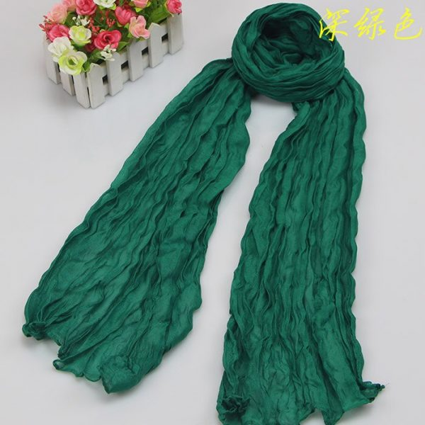 61683 tosckg 600x600 - Scarves Women 2019 Luxury Brand Scarf Pashmina Head Scarf Ladies Green Scarf Bufanda Hombre Men Solid Color Cotton Scarf Bandana