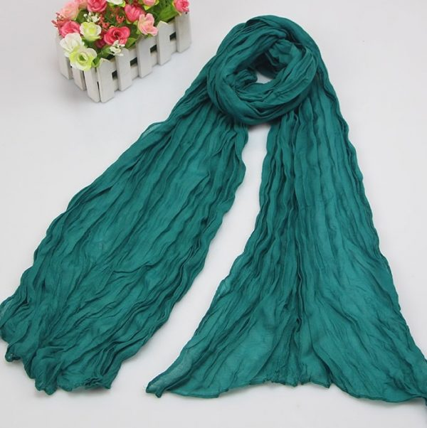 61683 y0h6ao 600x602 - Scarves Women 2019 Luxury Brand Scarf Pashmina Head Scarf Ladies Green Scarf Bufanda Hombre Men Solid Color Cotton Scarf Bandana