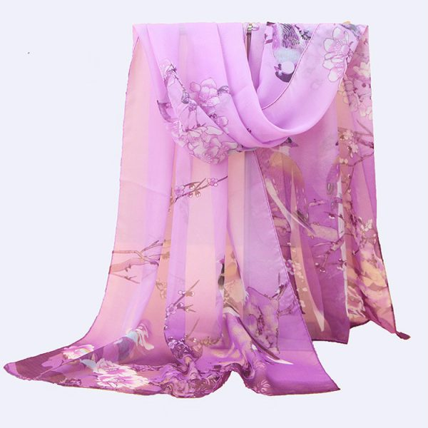 61958 g4yvwq 600x600 - 2019 New Fashion Womens Ladies Medium Long Chiffon Stole Scrawl Flower Printed Soft Scarf