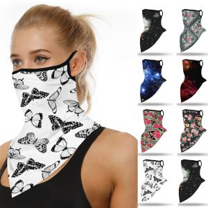 61961 d8pzpu 300x300 - Outdoor Mascarillas Butterfly Print Women Summer Seamless Ear Sports Scarf Neck Tube Facemask Dust Riding Masque Coton Lavable
