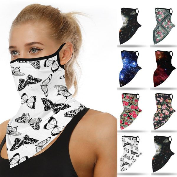 61961 d8pzpu 600x600 - Outdoor Mascarillas Butterfly Print Women Summer Seamless Ear Sports Scarf Neck Tube Facemask Dust Riding Masque Coton Lavable