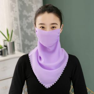 61980 tyi6k5 300x300 - New Sunscreen Mask Neck Protection Full Covering Chiffon Triangle Scarf Thin Summer Breathable Silk Scarf Outdoor Riding