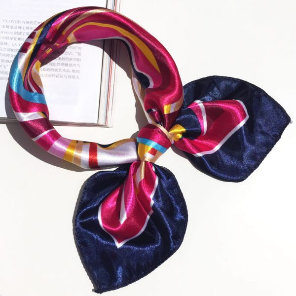62004 eggms6 600x600 - 50*50 Multifunction Silk Scarf women fashion Printed Scarves Hair Tie Flower Leopard Striped Ribbon Headwear Retro Neckerchief