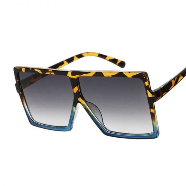63289 ffn3zj 600x600 - Flat Top Oversize Square Sunglasses Women Fashion Retro Gradient Sun Glasses Leopard Big Frame Vintage Eyewear UV400