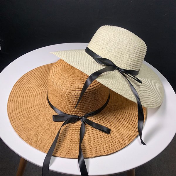 63560 6f6hrs 600x600 - New Product Straw Hats Ma'am Leisure Go On A Journey Bow Straw Hat Outdoors On Vacation Sunscreen Will Eaves Sun Hat