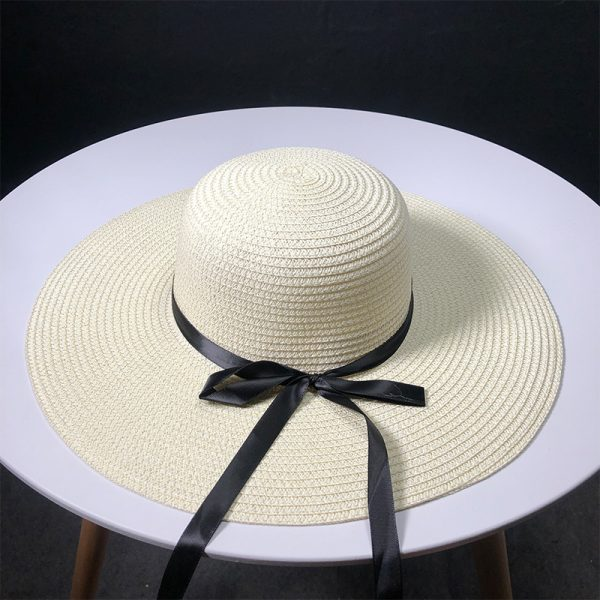 63560 kmcc4w 600x600 - New Product Straw Hats Ma'am Leisure Go On A Journey Bow Straw Hat Outdoors On Vacation Sunscreen Will Eaves Sun Hat