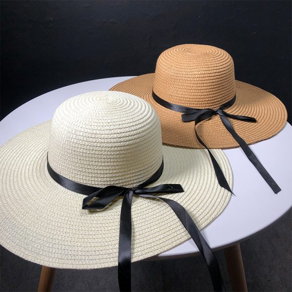 63560 nzgiqh 600x600 - New Product Straw Hats Ma'am Leisure Go On A Journey Bow Straw Hat Outdoors On Vacation Sunscreen Will Eaves Sun Hat