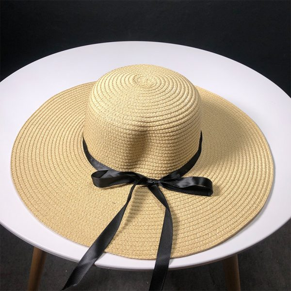 63560 ppezc7 600x600 - New Product Straw Hats Ma'am Leisure Go On A Journey Bow Straw Hat Outdoors On Vacation Sunscreen Will Eaves Sun Hat