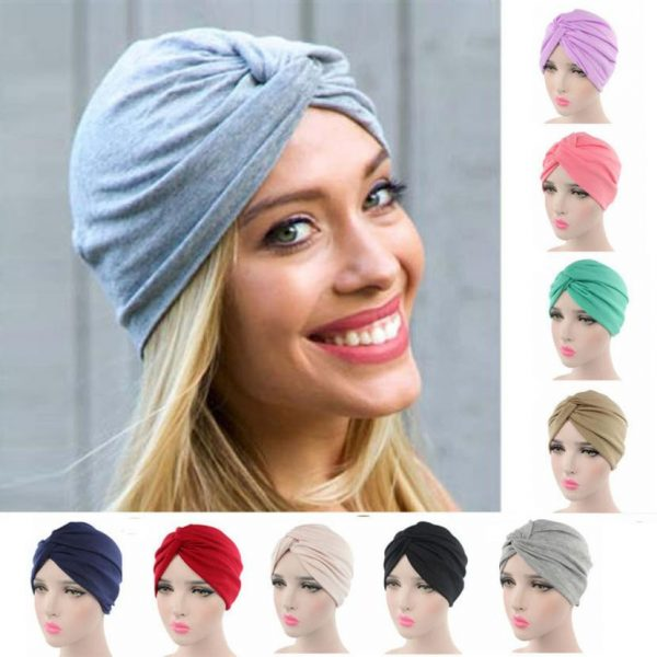 63585 jdsuz4 600x600 - High quality Women Cancer Chemo Hat Beanie Scarf Turban Head Wrap Cap Soft comfortable Cotton Knitted hat Drosphipping#V30