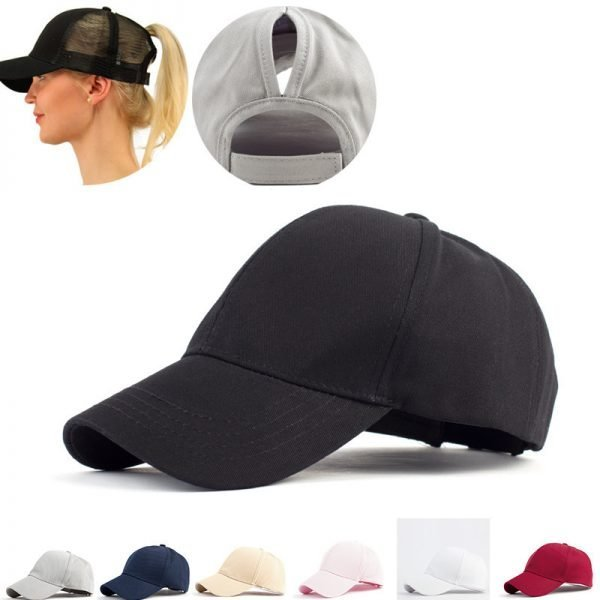 63629 qzpicg 600x600 - 2019 Ponytail Baseball Cap Messy Bun Hats For Women Washed Cotton Snapback Caps Casual Summer Sun Visor Female Outdoor Sport Hat