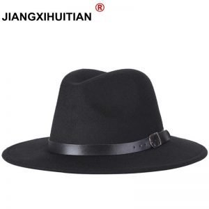 63634 c7wqqh 300x300 - free shipping 2020 new Fashion men fedoras women's fashion jazz hat summer spring black woolen blend cap outdoor casual hat X XL