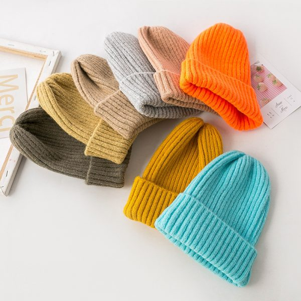 63712 2k6xpe 600x600 - Korean Version Of The Knit Hat Simple Ladies Autumn And Winter Wool Hat Pointed Hat Wild Stack Pile Hat