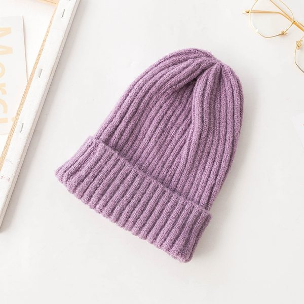 63712 5f16ns 600x600 - Korean Version Of The Knit Hat Simple Ladies Autumn And Winter Wool Hat Pointed Hat Wild Stack Pile Hat