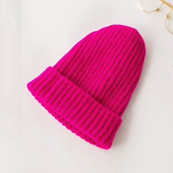 63712 xqqusq 600x600 - Korean Version Of The Knit Hat Simple Ladies Autumn And Winter Wool Hat Pointed Hat Wild Stack Pile Hat