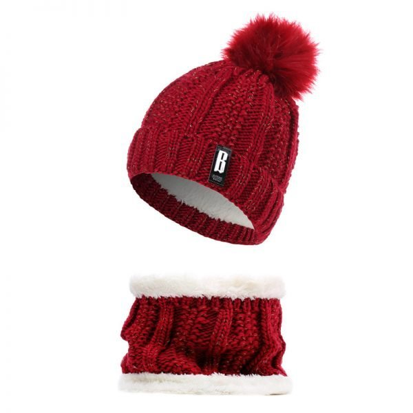 63905 g8g7vh 600x600 - 2019 New Cute Pom Poms Winter Hat For Women Fashion Solid Warm Hats Knitted Beanies Cap Brand Thick Female Cap Bib