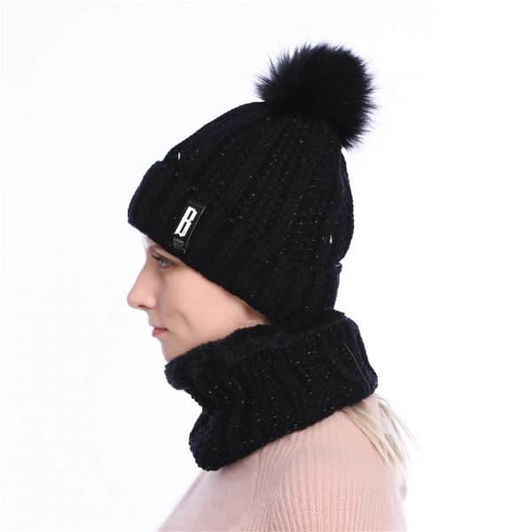 63905 vu7zuo 600x600 - 2019 New Cute Pom Poms Winter Hat For Women Fashion Solid Warm Hats Knitted Beanies Cap Brand Thick Female Cap Bib