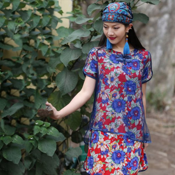 63983 jyvza4 600x600 - Mexican Style Spring Autumn Ethnic Vintage Embroidery Flowers Bandanas Red Blue Print Hat Travel Caps Headscarves #R5