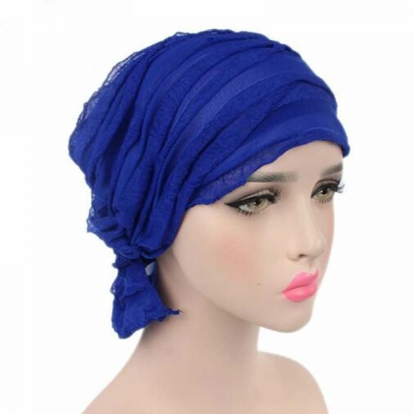 63984 d9jvqi 600x600 - India Hot Style Ox Tripe PRE-TIE-STYLE Skullies Beanies Spring Autumn Brand Cotto Turban Hats For Women Chiffon Chemotherapy Cap