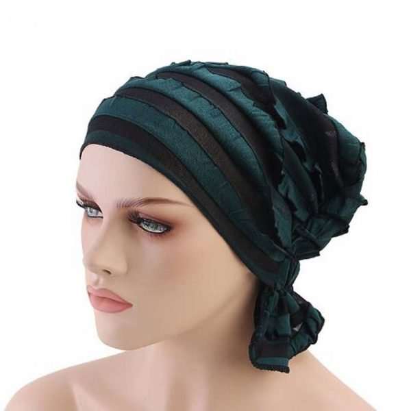 63984 eu32ds 600x600 - India Hot Style Ox Tripe PRE-TIE-STYLE Skullies Beanies Spring Autumn Brand Cotto Turban Hats For Women Chiffon Chemotherapy Cap