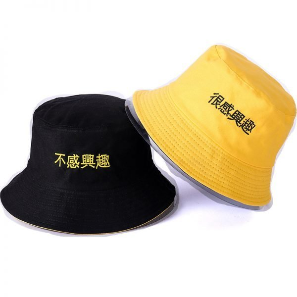 63986 x6gt5u 600x600 - 2018 New Korean double-sided wear creative embroidered fisherman hat Casual fashion visor cap men and women Bucket hat caps