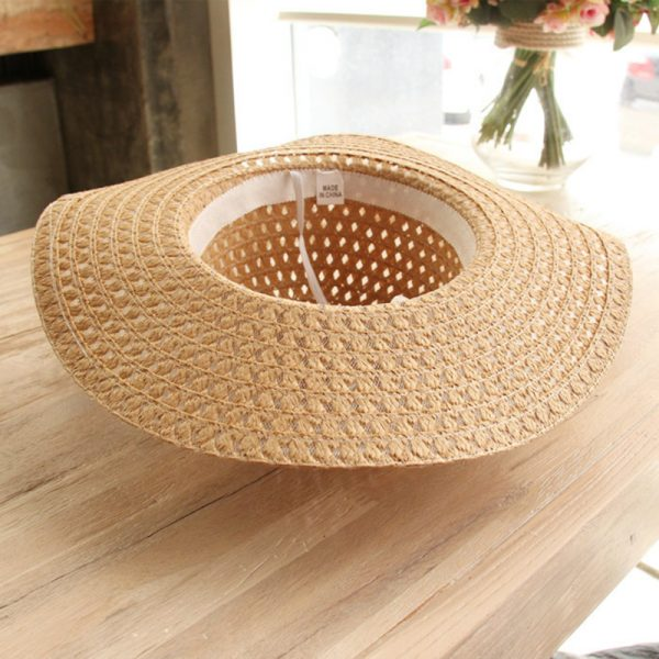 64088 73atvk 600x600 - Women Lace Sun Hats For  Wide Brim Straw Beach Side Cap Floppy Female Straw Hat Lace Solid Fringe Straw Hat Summer Hat Chapeu