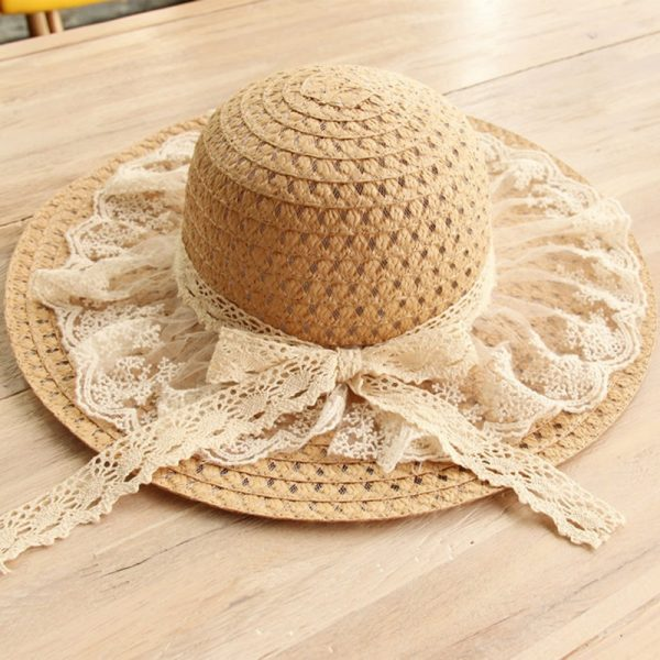 64088 fpuh0x 600x600 - Women Lace Sun Hats For  Wide Brim Straw Beach Side Cap Floppy Female Straw Hat Lace Solid Fringe Straw Hat Summer Hat Chapeu