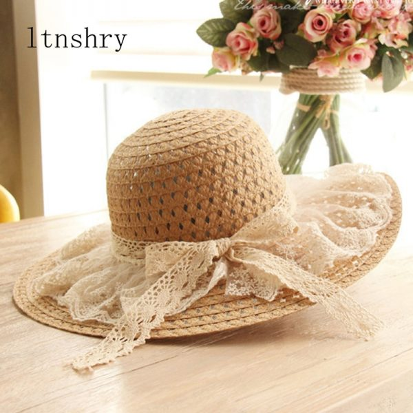 64088 v9dw3o 600x600 - Women Lace Sun Hats For  Wide Brim Straw Beach Side Cap Floppy Female Straw Hat Lace Solid Fringe Straw Hat Summer Hat Chapeu