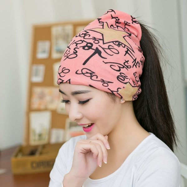 64105 olhh8s 600x600 - Fashion 2020 New Spring-Autumn Women's Hats Letter With Star Korea Style Beanies Knitted Hat Ear Protector Cotton Warm Skullies