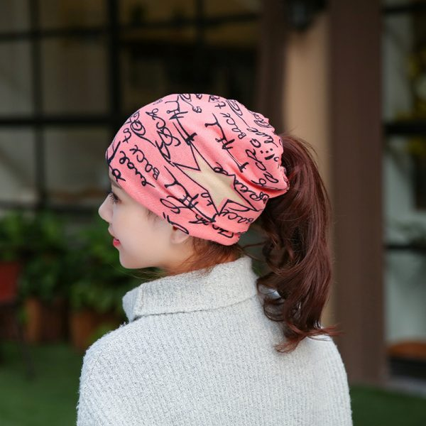 64105 p8pras 600x600 - Fashion 2020 New Spring-Autumn Women's Hats Letter With Star Korea Style Beanies Knitted Hat Ear Protector Cotton Warm Skullies