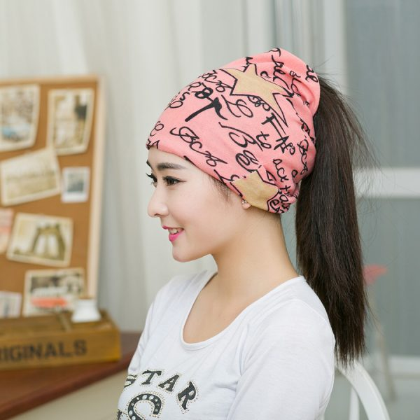 64105 shu0hy 600x600 - Fashion 2020 New Spring-Autumn Women's Hats Letter With Star Korea Style Beanies Knitted Hat Ear Protector Cotton Warm Skullies