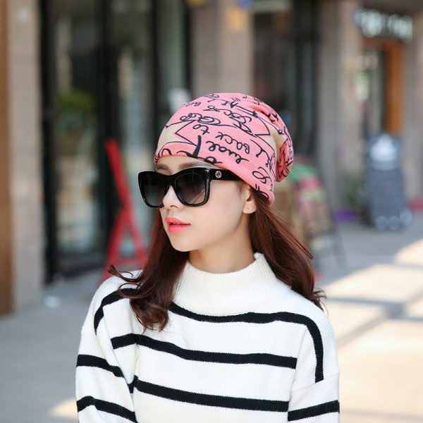 64105 sqcnrc 600x600 - Fashion 2020 New Spring-Autumn Women's Hats Letter With Star Korea Style Beanies Knitted Hat Ear Protector Cotton Warm Skullies