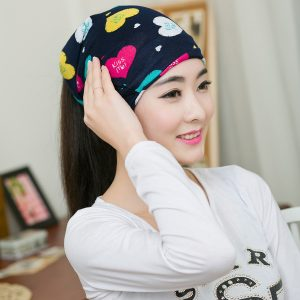 64106 7wsfov 300x300 - Fashion Women Cute Colorful Heart Beanies Spring Women Beanie Autumn Winter Hats For Women Multifunction Scarf Letter Cap