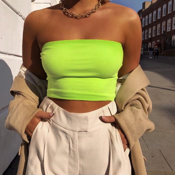 65248 zlau28 600x600 - 2019 Summer Sleeveless Womens Bralette Plain Off Shoulder Vest Crop Top Tank Tops Bras Bustier Party Solid Sexy Hot Clothes