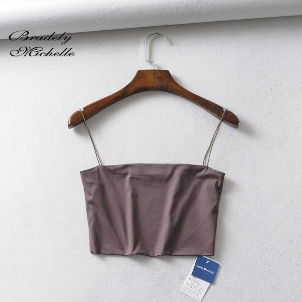 65774 u7jccw 600x600 - BRADELY MICHELLE 2019 Summer Women's Crop Top Sexy Elastic Cotton Camis sleeveless Short Tank Top Bar