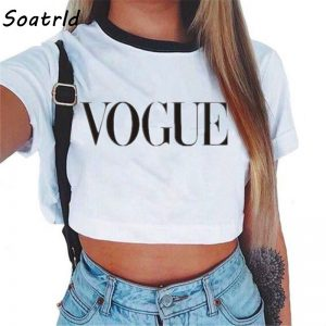 65795 lkbh0c 300x300 - 2018 Summer Streetwear White Crop Top Women Cropped T Shirt Tank Tops Tees Transparent Print Clothes Short Sleeve